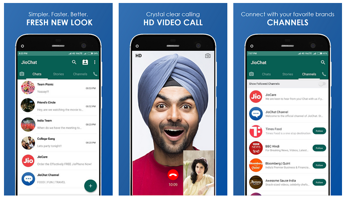 JioChat : HD Video Call APK 2