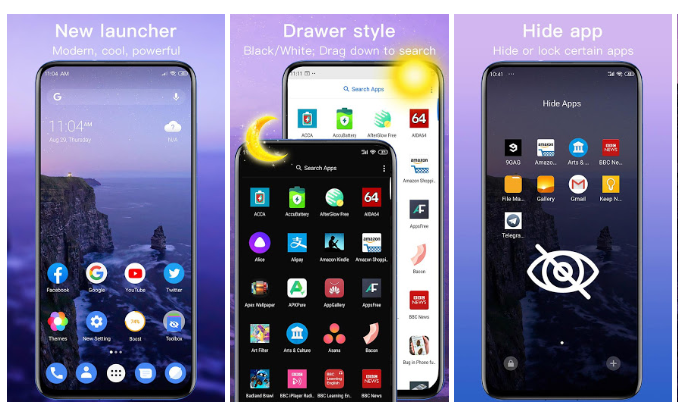 New Launcher Apk 2020 themes, icon packs, wallpapers 2